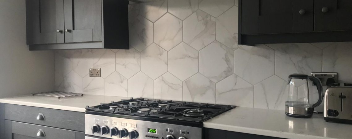 Stunning Hexagonal Kitchen Tiles